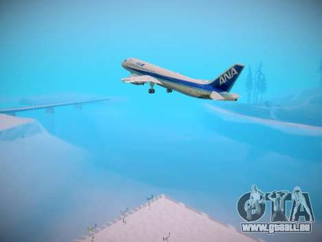 Airbus A320-211 All Nippon Airways pour GTA San Andreas roue
