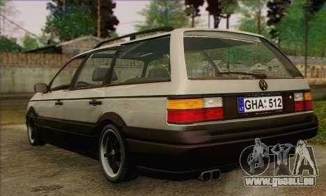 Volkswagen Passat B3 pour GTA San Andreas sur la vue arrière gauche