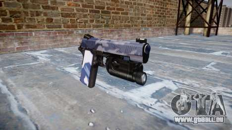 Pistolet Kimber 1911 Tigre Bleu pour GTA 4