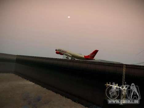 Airbus A340-300 Virgin Atlantic pour GTA San Andreas vue de dessus
