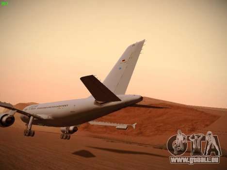 Airbus A310 MRTT Luftwaffe (German Air Force) für GTA San Andreas Unteransicht