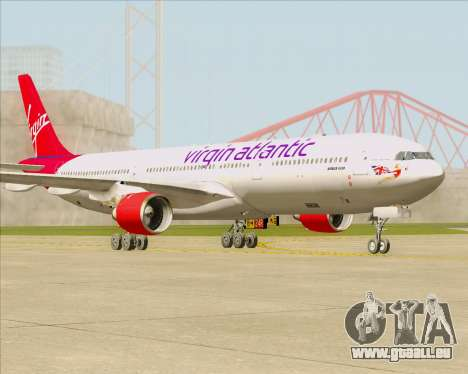 Airbus A330-300 Virgin Atlantic Airways für GTA San Andreas linke Ansicht