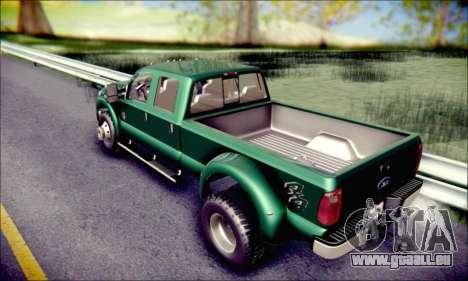 Ford F450 Super Duty 2013 HD pour GTA San Andreas vue intérieure