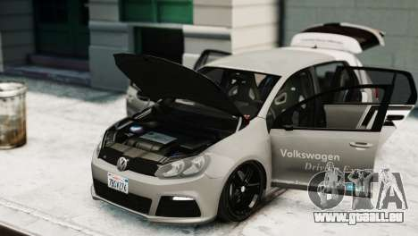 Volkswagen Golf R 2010 Driving Experience für GTA 4 rechte Ansicht
