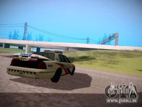 Ford Crown Victoria Toronto Police Service für GTA San Andreas rechten Ansicht