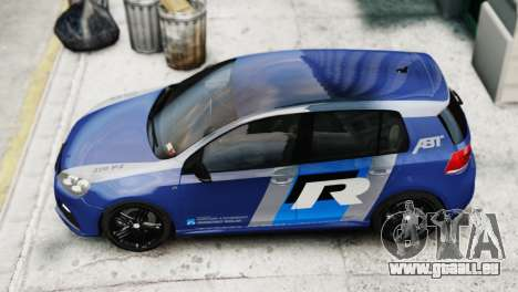 Volkswagen Golf R 2010 ABT Paintjob für GTA 4 hinten links Ansicht