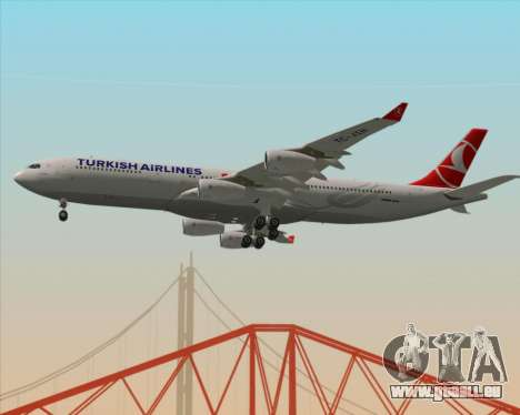 Airbus A340-313 Turkish Airlines pour GTA San Andreas vue intérieure