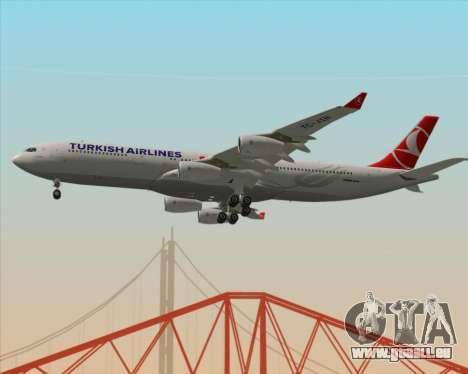Airbus A340-313 Turkish Airlines pour GTA San Andreas vue intérieure
