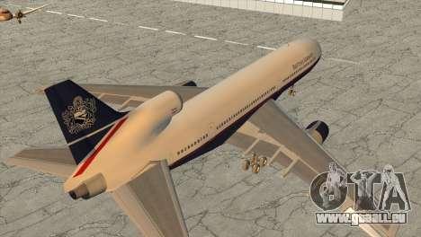 Lockheed L1011 Tristar British Airways pour GTA San Andreas laissé vue