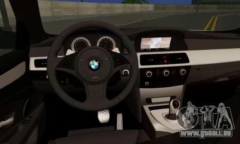 BMW M5 E60 Stance Works für GTA San Andreas zurück linke Ansicht