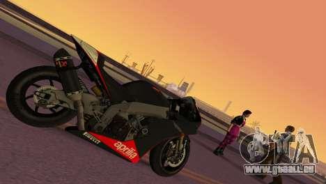 Aprilia RSV4 2009 Edition I pour une vue GTA Vice City de la gauche