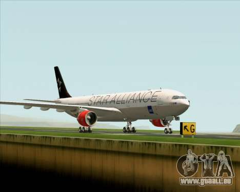 Airbus A330-300 SAS (Star Alliance Livery) für GTA San Andreas zurück linke Ansicht