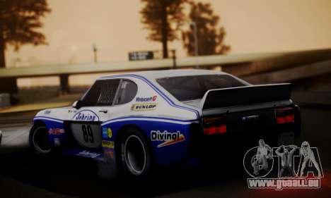 Ford Capri RS Cosworth 1974 Skinpack 2 pour GTA San Andreas laissé vue