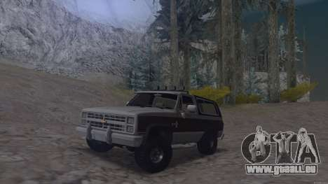 Chevrolet Blazer K5 pour GTA San Andreas sur la vue arrière gauche