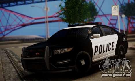 Vapid Police Interceptor from GTA V pour GTA San Andreas laissé vue