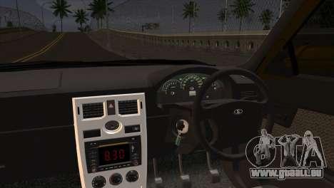 Lada 2170 Priora Hennessey Performance pour GTA San Andreas sur la vue arrière gauche