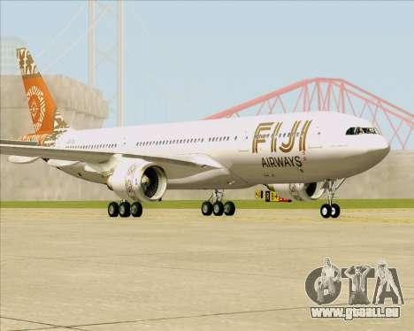 Airbus A330-200 Fiji Airways für GTA San Andreas zurück linke Ansicht
