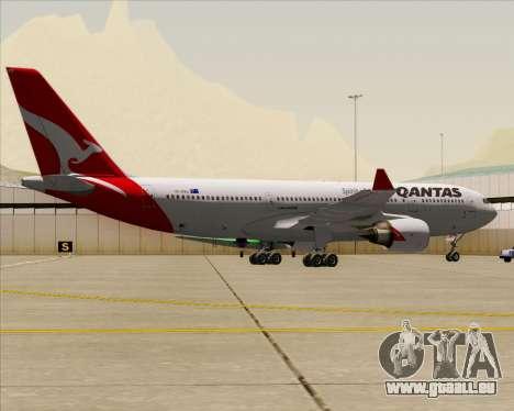 Airbus A330-200 Qantas für GTA San Andreas Rückansicht