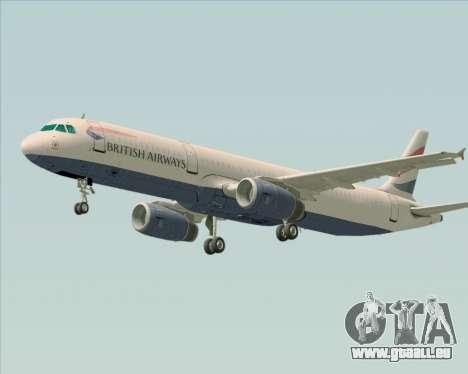 Airbus A321-200 British Airways pour GTA San Andreas vue intérieure