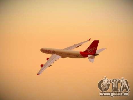Airbus A340-300 Virgin Atlantic pour GTA San Andreas vue de côté
