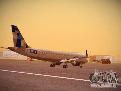 Embraer E190 TRIP Linhas Aereas Brasileira für GTA San Andreas rechten Ansicht