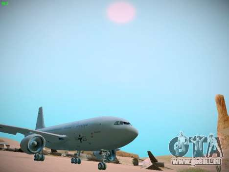 Airbus A310 MRTT Luftwaffe (German Air Force) für GTA San Andreas linke Ansicht