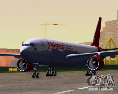 Airbus A330-243F Avianca Cargo für GTA San Andreas linke Ansicht