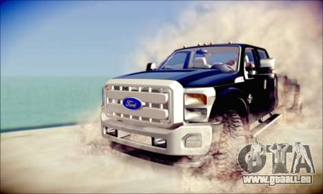 Ford F450 Super Duty 2013 HD pour GTA San Andreas laissé vue
