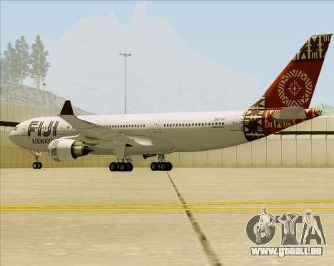 Airbus A330-200 Fiji Airways für GTA San Andreas Rückansicht