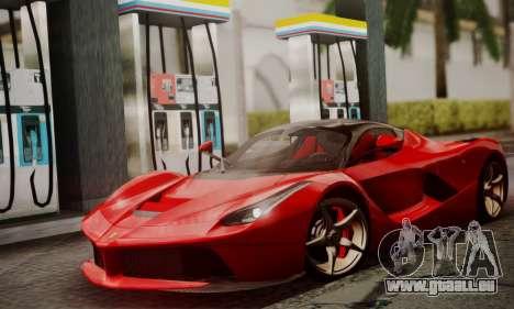 Ferrari LaFerrari F70 2014 pour GTA San Andreas sur la vue arrière gauche