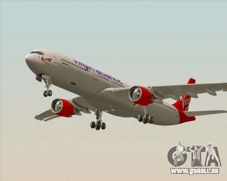 Airbus A330-300 Virgin Atlantic Airways für GTA San Andreas Rückansicht