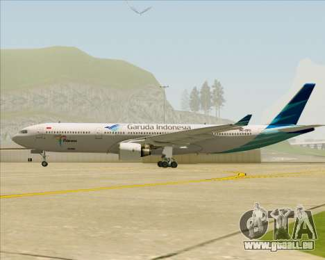 Airbus A330-300 Garuda Indonesia pour GTA San Andreas vue intérieure