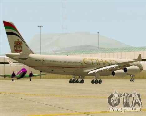 Airbus A340-313 Etihad Airways für GTA San Andreas Rückansicht