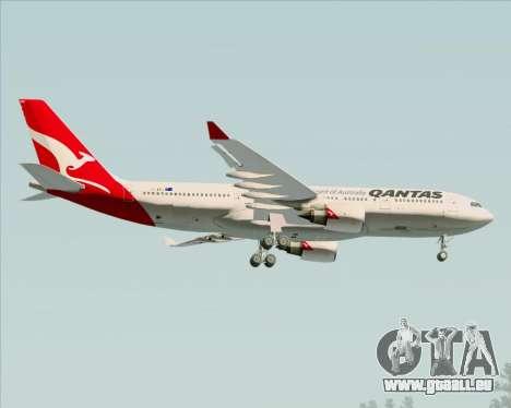 Airbus A330-200 Qantas für GTA San Andreas obere Ansicht