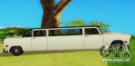 Cabbie Limousine für GTA San Andreas zurück linke Ansicht