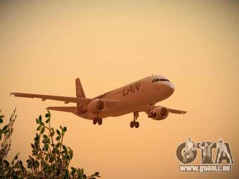 Airbus A320-214 LAN Airlines 100th Plane für GTA San Andreas Unteransicht