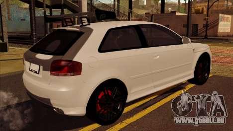 Audi S3 Tuned 2007 pour GTA San Andreas laissé vue