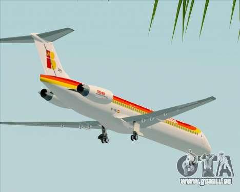 McDonnell Douglas MD-82 Iberia für GTA San Andreas obere Ansicht