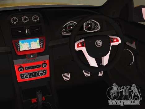Holden HSV GTS 2011 für GTA Vice City zurück linke Ansicht