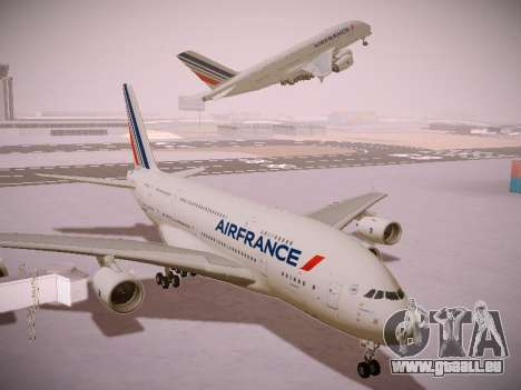 Airbus A380-800 Air France für GTA San Andreas Innenansicht