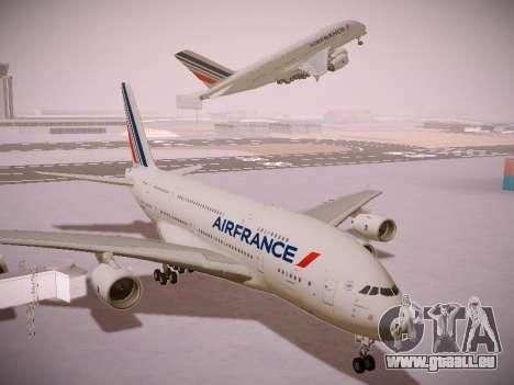 Airbus A380-800 Air France pour GTA San Andreas vue intérieure