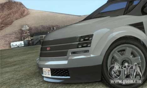 Vapid Radius 1.0 (HQLM) pour GTA San Andreas sur la vue arrière gauche