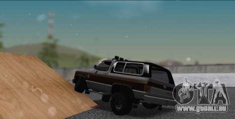 Chevrolet Blazer K5 pour GTA San Andreas laissé vue