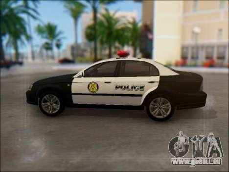 Chevrolet Evanda Police pour GTA San Andreas laissé vue