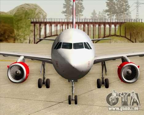 Airbus A319 Air Canada Rouge für GTA San Andreas Innen