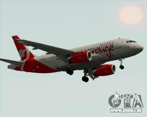Airbus A319 Air Canada Rouge für GTA San Andreas Innenansicht