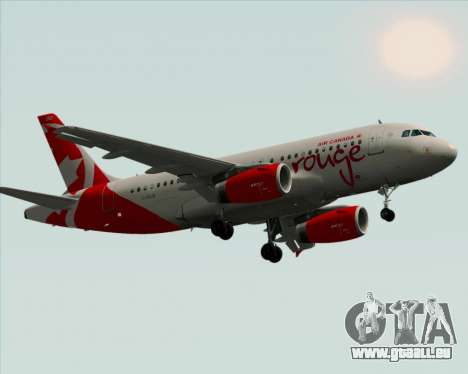Airbus A319 Air Canada Rouge pour GTA San Andreas vue intérieure