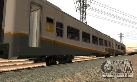K1 Argo Traincar Indonesisch für GTA San Andreas linke Ansicht