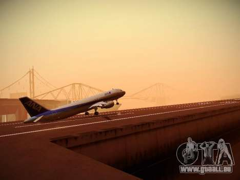 Airbus A320-211 All Nippon Airways pour GTA San Andreas vue de dessus