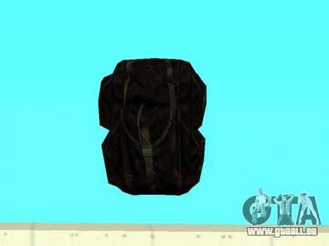 Noir sac à dos de Stalker pour GTA San Andreas deuxième écran